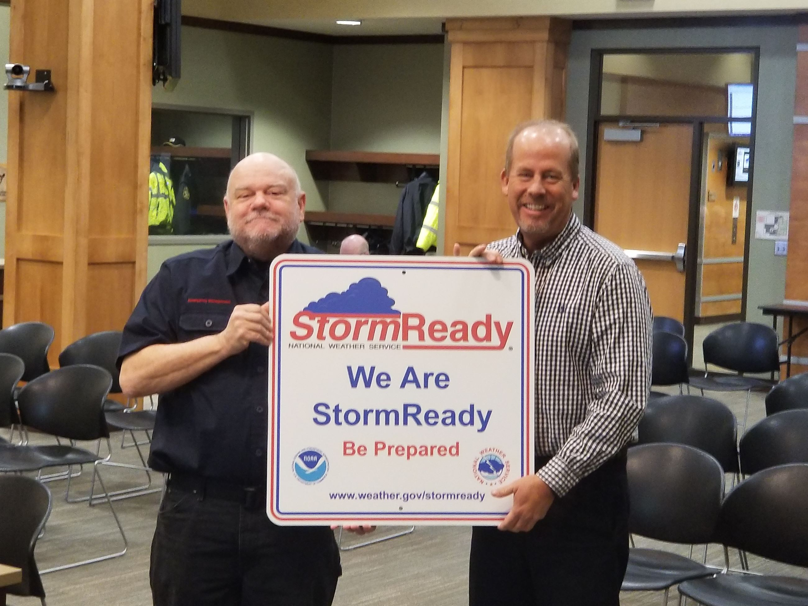 Picture from Storm Ready Sign Presentation